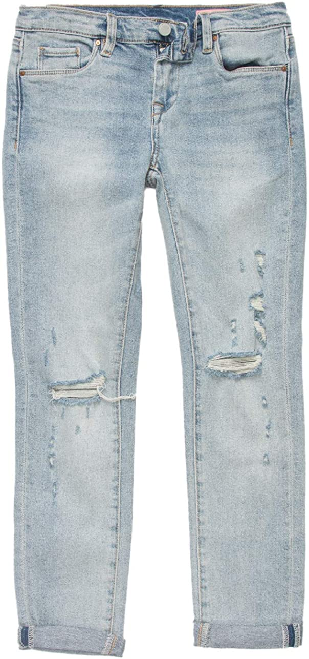 BLANKNYC Girls Girl's San Jose Mall Max 59% OFF High Rise Denim Slits Raw Knee with and