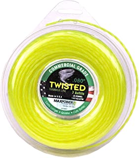 Maxpower 338807 Premium Twisted Trimmer Line .080-Inch Twisted Trimmer Line 140-Foot Length