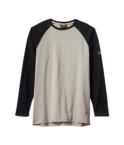 Ariat FR Baseball T-Shirt (Grey/Black) Men