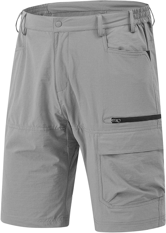 Rdruko Finally resale start Elegant Men's Relaxed Fit Cargo Work Quick Shorts Lightweight Dry