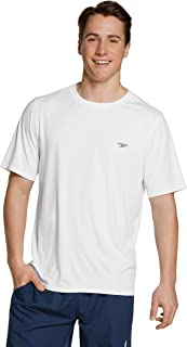 Speedo Men's UV Swim Shirt Basic Easy Short Sleeve Regular Fit