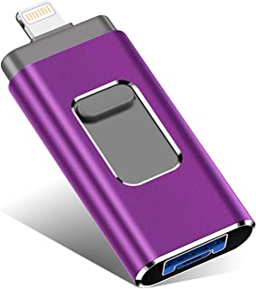iOS Flash Drive for iPhone Photo Stick 256GB KEAINIKJ Memory Stick USB 3.0 Flash Drive Thumb Drive for iPhone iPad Android and Computers (purple-256gb)