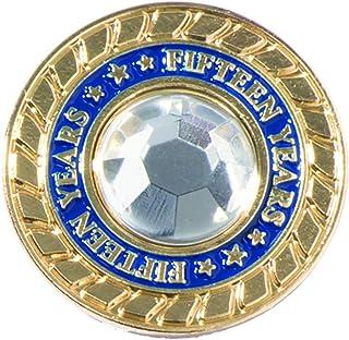 TCDesignerProducts 15 Years of Service Rhinestone Class Ring Appreciation Award Pin