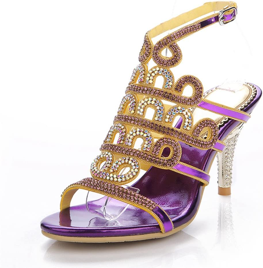 Topics on TV Wzhshoes Womens Party Diamante Max 57% OFF Evening Wedding Mid H Bridal Prom