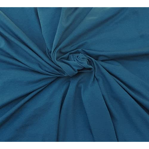 8d028a3d9cf Blue Organic Cotton Spandex Fabric Eco Friendly Jersey Knit By Yard 4/16