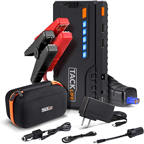 TACKLIFE T6 800A Peak 18000mAh Car Jump Starter (up to 7.0L Gas, 5.5L Diesel Engine) with Long Standby, Quick Charge,...