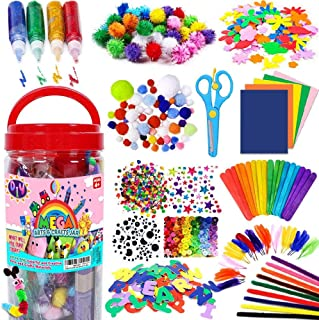 AMERTEER Arts and Crafts Supplies for Kids Toddler DIY Art Craft Kits Crafting Materials Toys Set for School Home Projects...