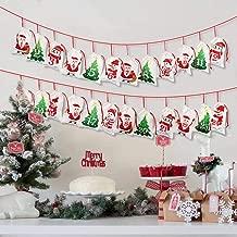 OurWarm 2019 Advent Calendar Christmas Decorations, 24 days Dimity Burlap Gift Bags Favors for Christms Toys Home Decor (6.3