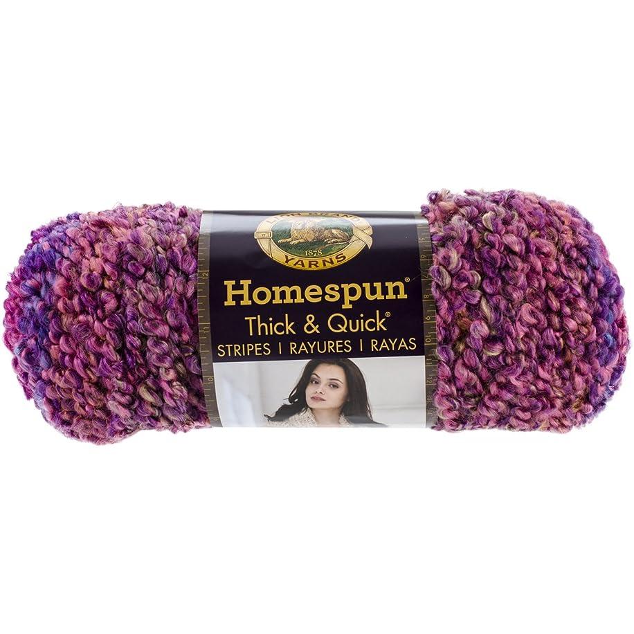 Lion Brand Yarn 792-221 Homespun Thick and Quick Yarn, Sunset Stripes