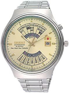 Orient Multi Year Calendar Perpetual World Time Automatic Men's Watch FEU00002CW