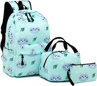 Backpack for School Girls Teens Bookbag Set Water Resistant Women Laptop Casual Daypack (Water blue-004)