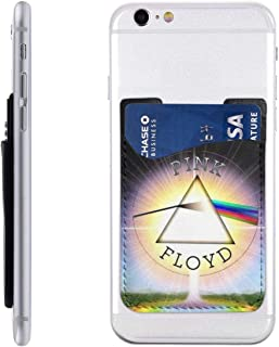 Pink Floyd 3D Print Leather Phone Card Holder Package for Back with 3M Adhesive Stick-on Phone Wallet, Compatible with Apple iPhone Samsung Galaxy Android Cell Phone