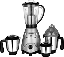 Morphy Richards Icon Superb 750W Mixer Grinder, 4 Jars, Silver and Black