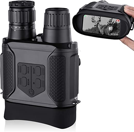 """Digital Night Vision Binoculars, Photos & Videos Modes - 3.5-7x31mm Zoom Infrared 850nm - 4"""" Large Screen 1300ft Viewing Range with 32G Memory Card (Compatible USB Power Supply)"""