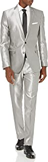 Men's Slim Fit Finished Bottom Suit