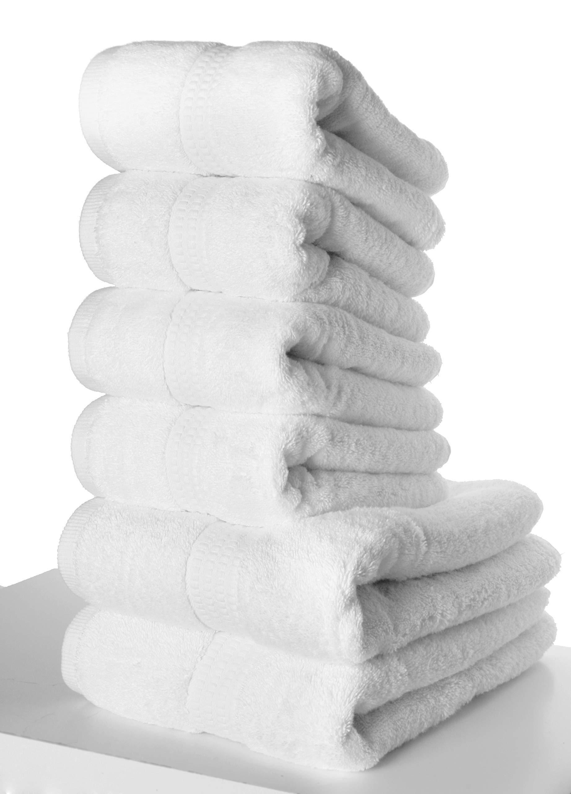PimpamTex – Juego de Toallas Premium 700 Gramos de Secado Rápido para Baño, 100% Algodón, Pack Toallas de Baño + Toallas de Mano – (Blanco, 2 de 70x140 cm + 4 de 50x100 cm): Amazon.es: Hogar