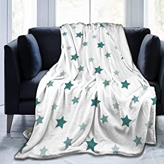 """Fleece Blanket 50"""" x 60""""-Stars Home Flannel Fleece Soft Warm Plush Throw Blanket for Bed/Couch/Sofa/Office/Camping"""