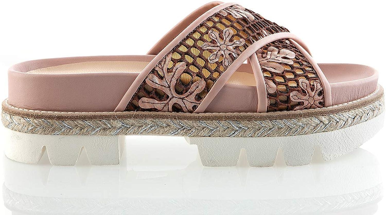 Fiorangelo 6365 Pink Snake Leather 1.5  High Italian Designer Summer Women Sandals