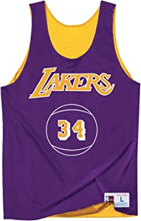 Mitchell & Ness Los Angeles Lakers Shaquille O'Neal Name/Number Reversible Mesh Tank Top
