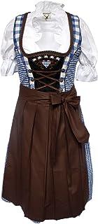 Alpenmärchen 3tlg. Dirndl Set - Trachtenkleid, Bluse, Schürze, Gr.32-60