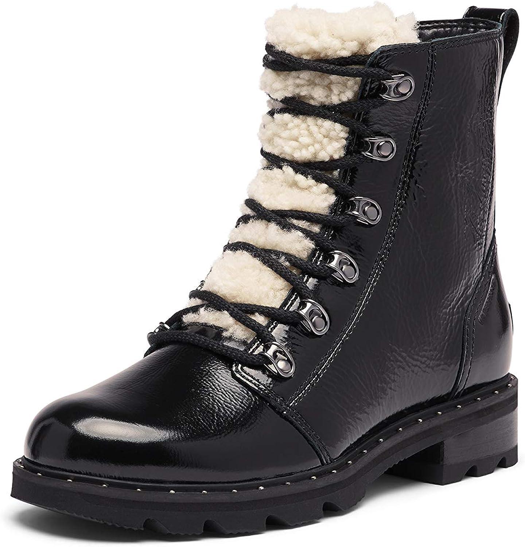 Sorel Women's Lennox Lace Cozy Boot - Rain - Waterproof - Black