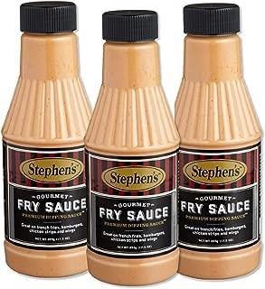 Stephen's, Gourmet Fry Sauce, 17.5 OZ Bottle (Pack of 3)