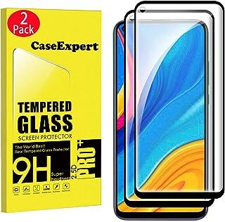 WenTian 2-pack – Huawei P40 Lite E/Huawei Y7P härdat glas, CaseExpert® härdat glas kristallklart skärmskydd skydd och pole...