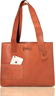 Vintage9 Leather Tote Bag - Shrewsbury, Tan