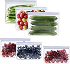 Bolsas de almacenamiento reutilizables, bolsas de conservación de alimentos congelados a prueba de fugas, bolsas de silico...