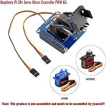 MakerFocus Raspberry Pi 3B+ Servo Motor Controller PWM Kit, 2-DOF Pan-Tilt HAT for RPi Light Intensity Sensing Control Camera Movement I2C Interface, Onboard PCA9685 Chip 12-bit PWM Resolution