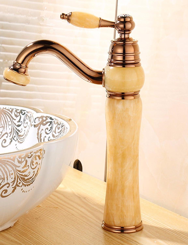 ETERNAL QUALITY Bad Waschbecken Wasserhahn Küche Waschbecken Wasserhahn Kupferne Heie Und Kalte Jade Waschtischmischer BEG1081
