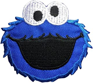 Sesame Street COOKIE MONSTER Patch Embroidered Cartoon Iron On Sew On Patches