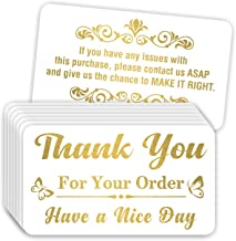 Thank You for Your Order Purchase Cards (Pack of 100) Stunning Gold Foil Letterpress 3.5
