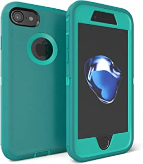 iPhone 7 Case, Viero Defender Case Heavy Duty Rugged Impact Resistant Full Body Protective Armor Military Grade Protection Belt Clip Built-in Screen Protector Case Cover for iPhone 7 - Teal/Teal
