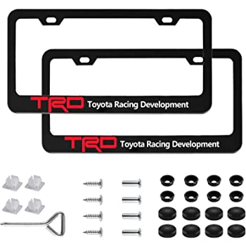 Applicable to Standard US License Plate Cover Accessories Included 2 Pcs Premium Black Aluminum Alloy License Plate Frame fit Acura Tag License Plate