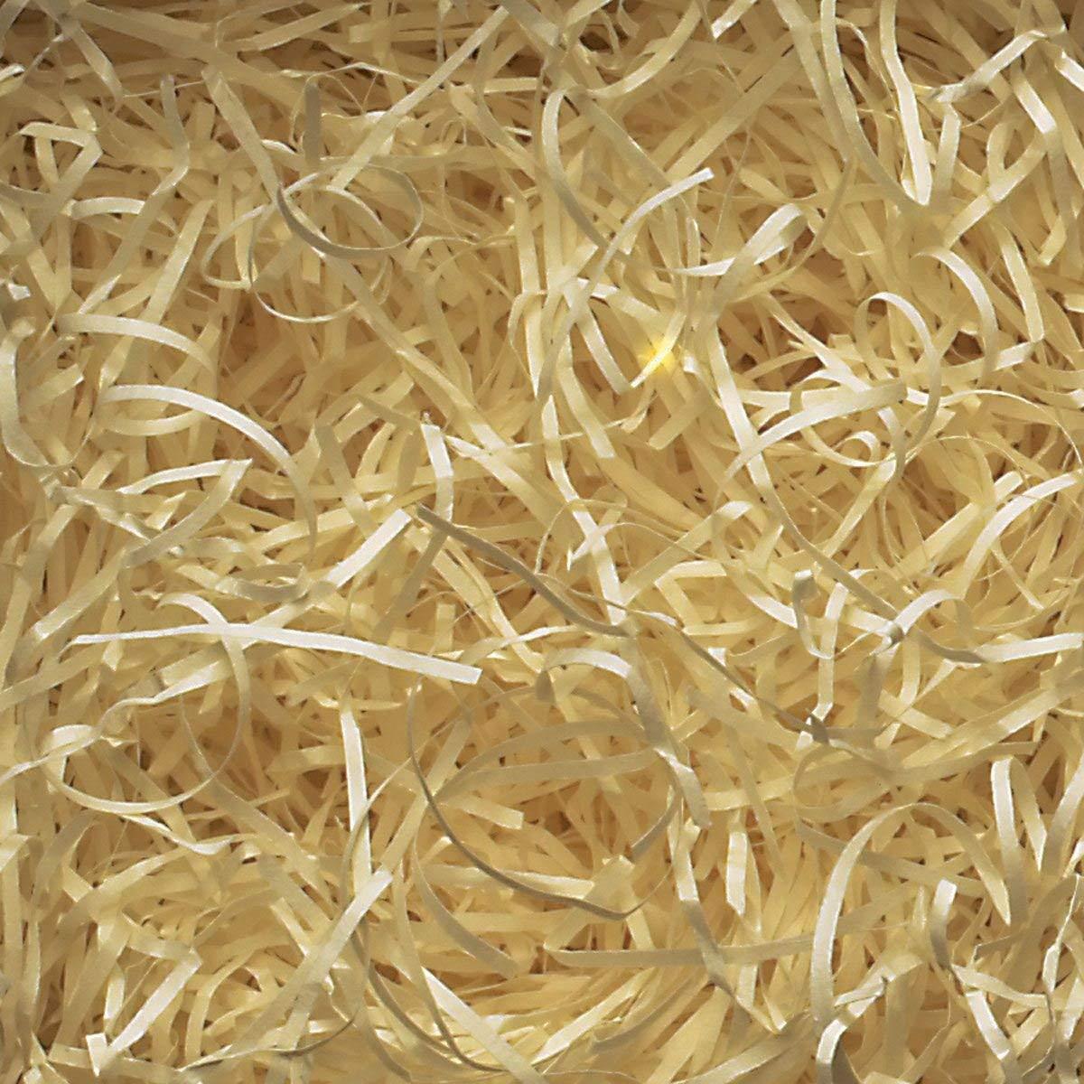 3XCream Shredded Kraft Paper Ideal for Hamper Fill