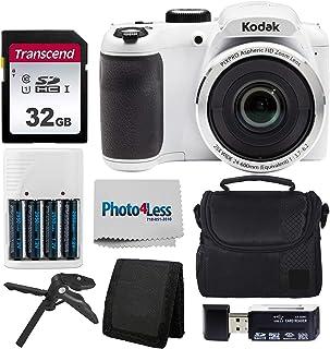 دوربین دیجیتال 16 مگاپیکسل کداک مدل PIXPRO AZ252 Astro Zoom - رنگ سفید - دارای کیف دوربین - کارت حافظه 32 گیگابایت Transcend - باتری های قابل شارژ و شارژر باتری - رم ریدر USB - سه پایه رومیزی