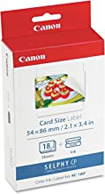 Canon 7741A001 (KC-18IF) Ink & Label Set, Black/Tri-Color in Retail Packaging