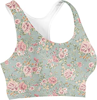 Rainbow Rules Pastel Floral Wallpaper Sports Bra