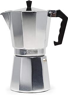 Primula - Cafetera espresso de aluminio para café expreso de cuerpo completo - Fácil de usar - Hace 1 taza, Aluminio, 12 C...