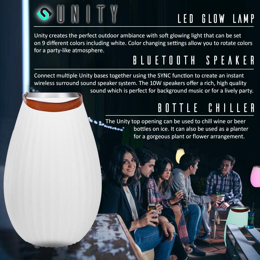 X-Large Modern Home Unity LED Glowing Bluetooth Speaker Pod w//SYNC