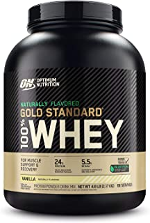 Optimum Nutrition Gold Standard 100% Whey Protein Powder, Naturally Flavored Vanilla, 4.8 Pound (Packaging May Vary)