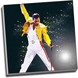Panther Print Freddie Mercury Queen Canvas Print Wall Art Picture Canvas Prints 20 X 20 Inches (50.8Cm X 50.8Cm)