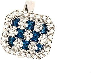 Anello in Oro 18K SMALTI A Fuoco Diamanti Naturali