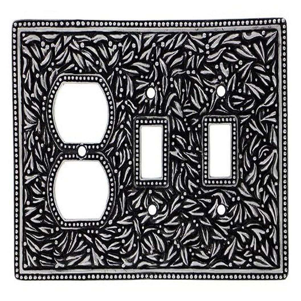 レンチ陰気ブランクVicenza Designs wpj7015?San Michele壁プレートwith Jumbo Double Toggle、開口部コンセント、アンティークニッケル