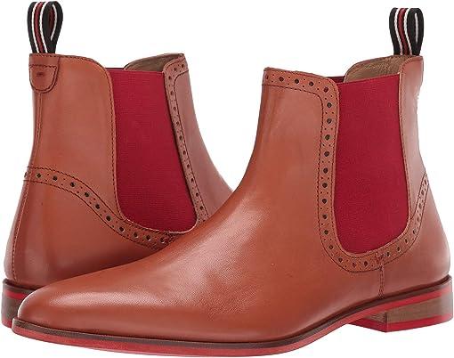 Cognac Calfskin Leather