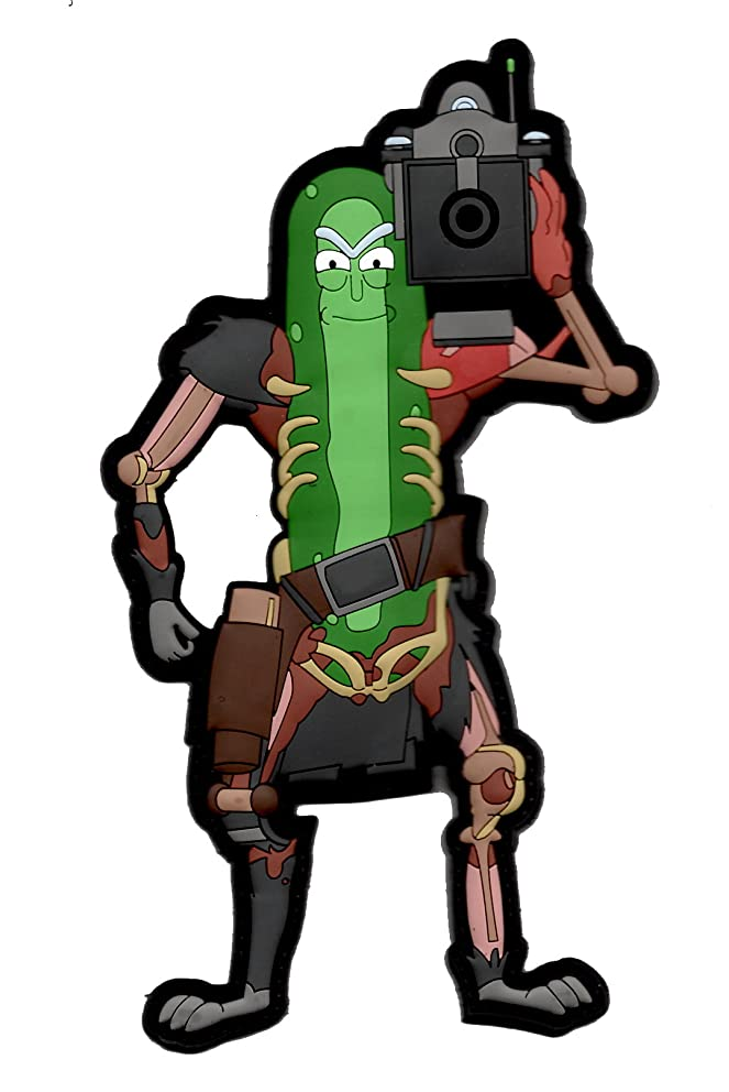 Pickle Rick V4 3D PVC Morale Patch By Tactical Outfitters