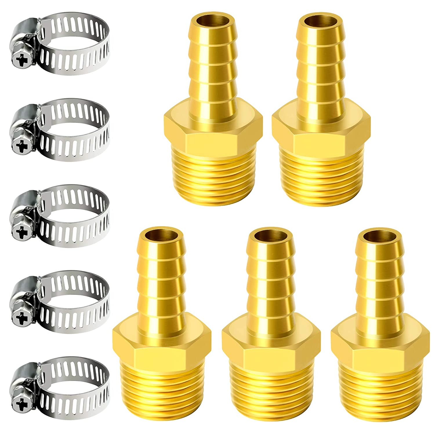 TAILONZ PNEUMATIC Brass Hose Barb NEW Fitting to 3 Industry No. 1 -3 Inch 8