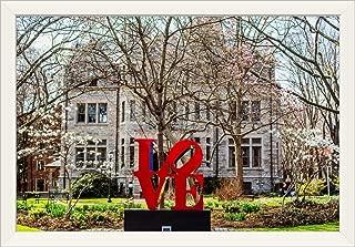 CANVAS ON DEMAND Robert Indiana's Love Sculpture at University of Pennsylvania White Framed Art Print, 33