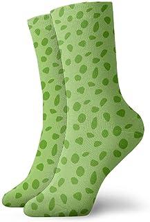 Kevin-Shop, Calcetines de compresión clásicos, Puntos de Jirafa - Calcetines Largos Deportivos Verdes Deportivos de 11,8 Pulgadas (30 cm) para Hombres y Mujeres